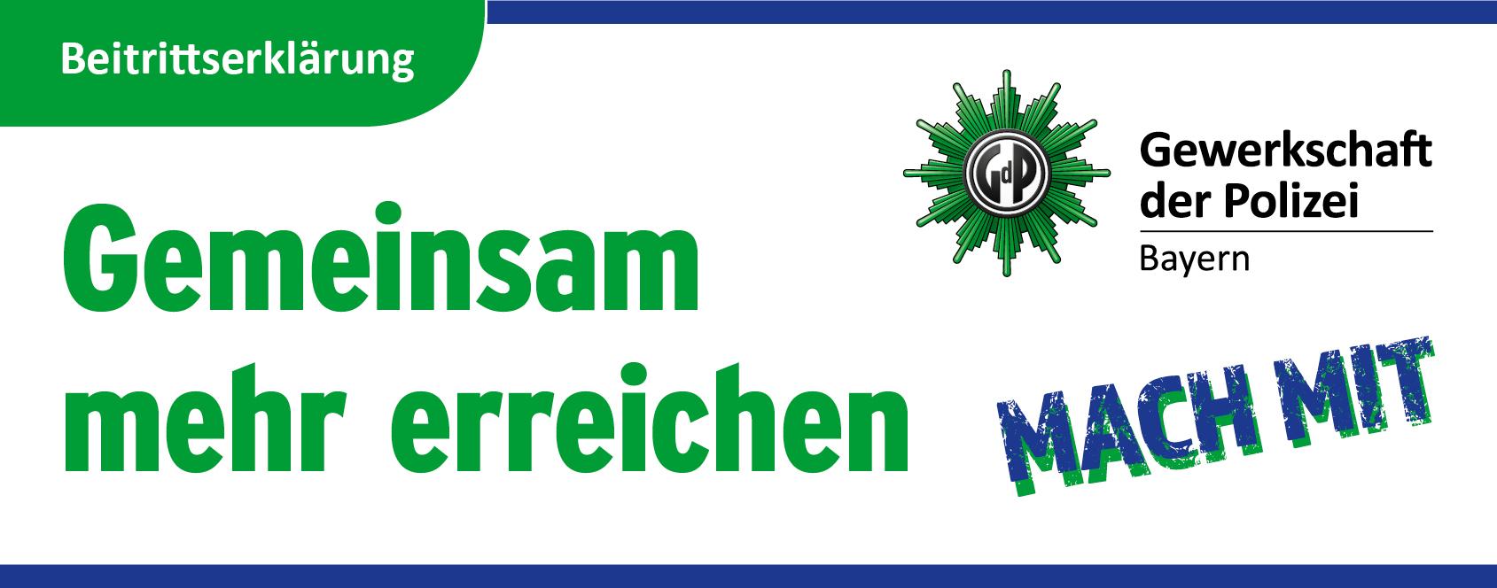GdP Bayern - Beitrittserklärung